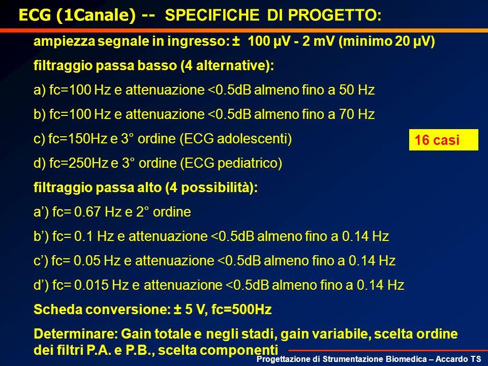 ECG (1Canale) -- SPECIFICHE DI PROGETTO: