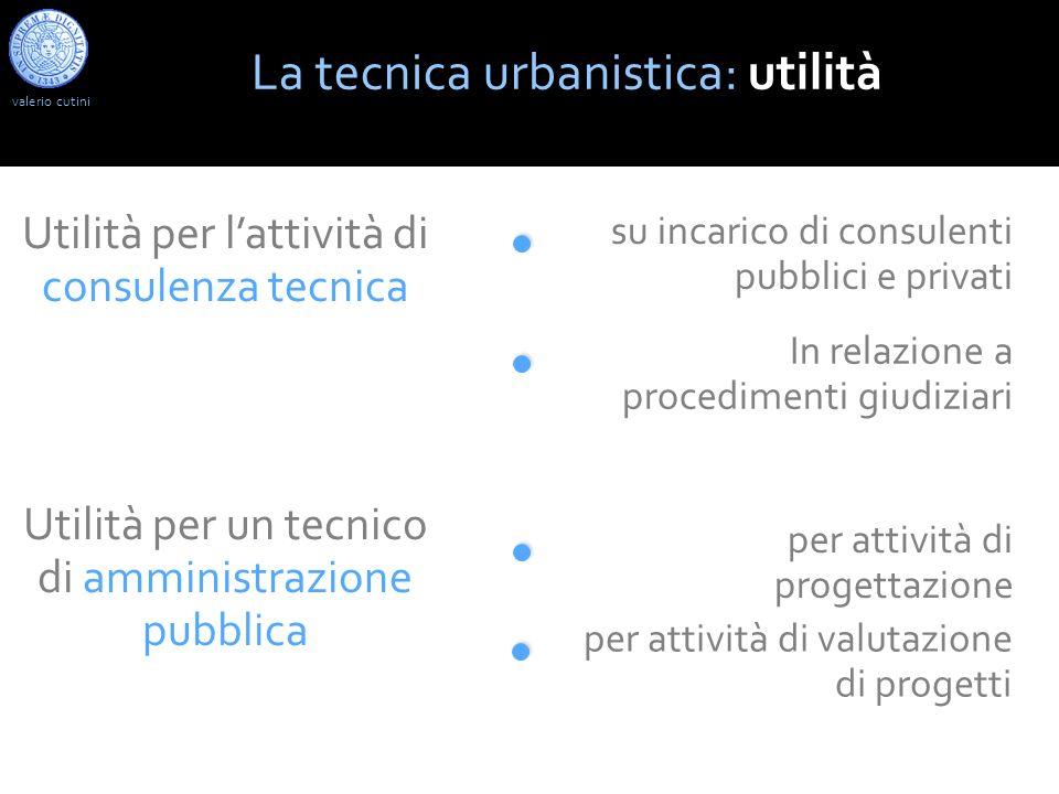 La tecnica urbanistica: utilità