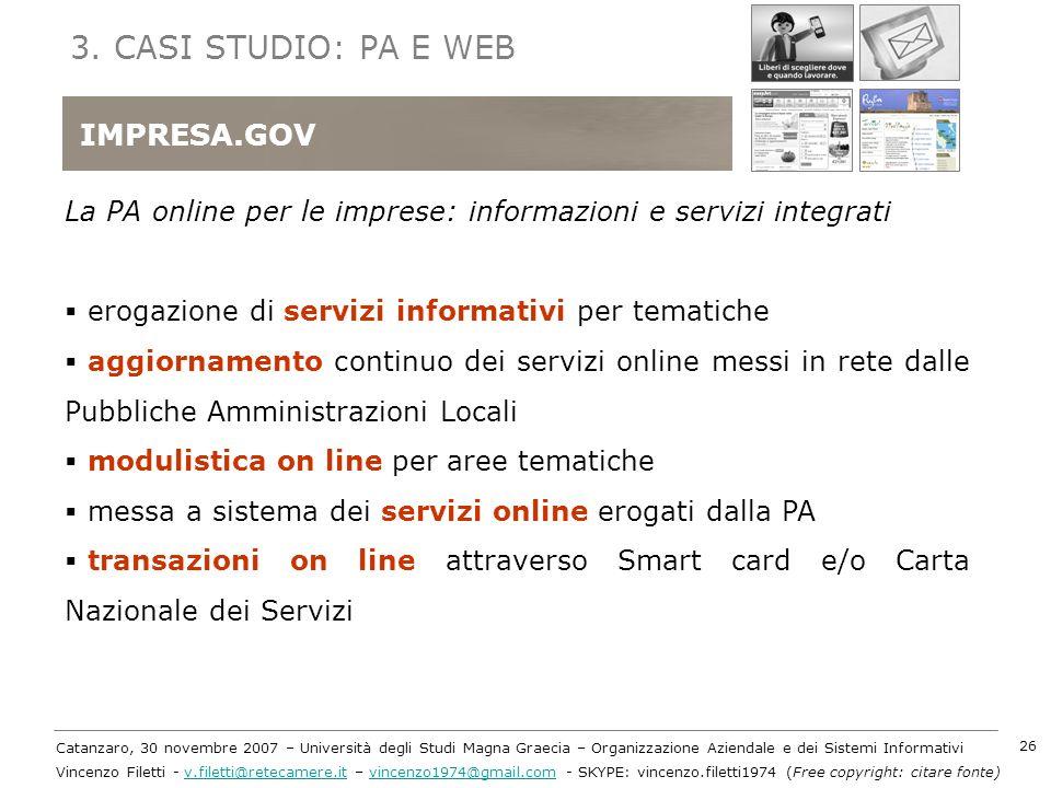 3. CASI STUDIO: PA E WEB IMPRESA.GOV