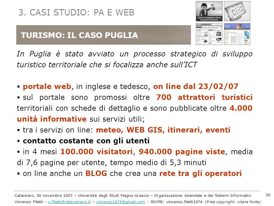 3. CASI STUDIO: PA E WEB TURISMO: IL CASO PUGLIA