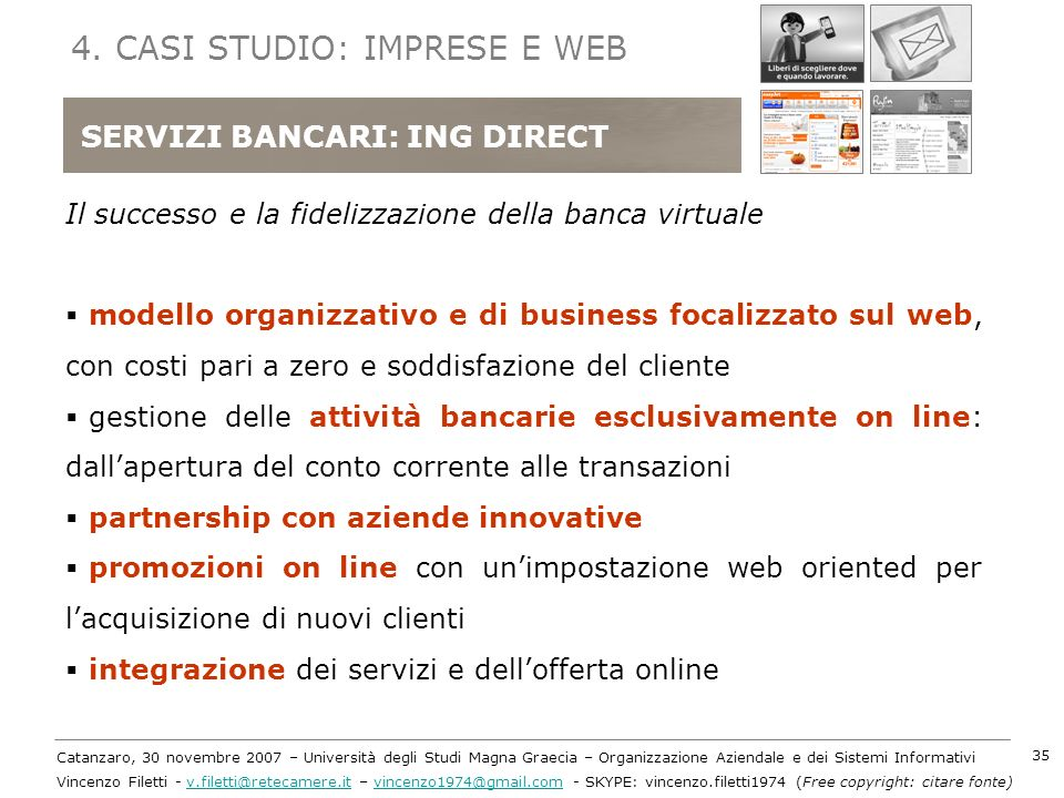 4. CASI STUDIO: IMPRESE E WEB