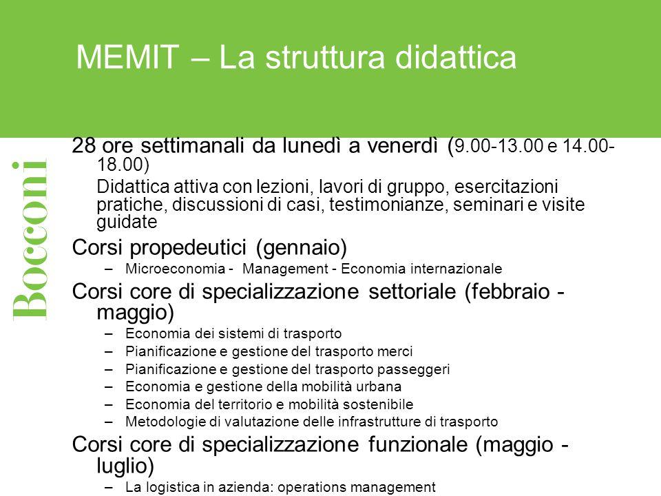 MEMIT – La struttura didattica