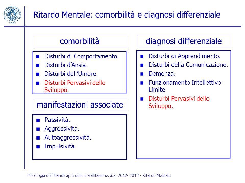 Ritardo Mentale: comorbilità e diagnosi differenziale
