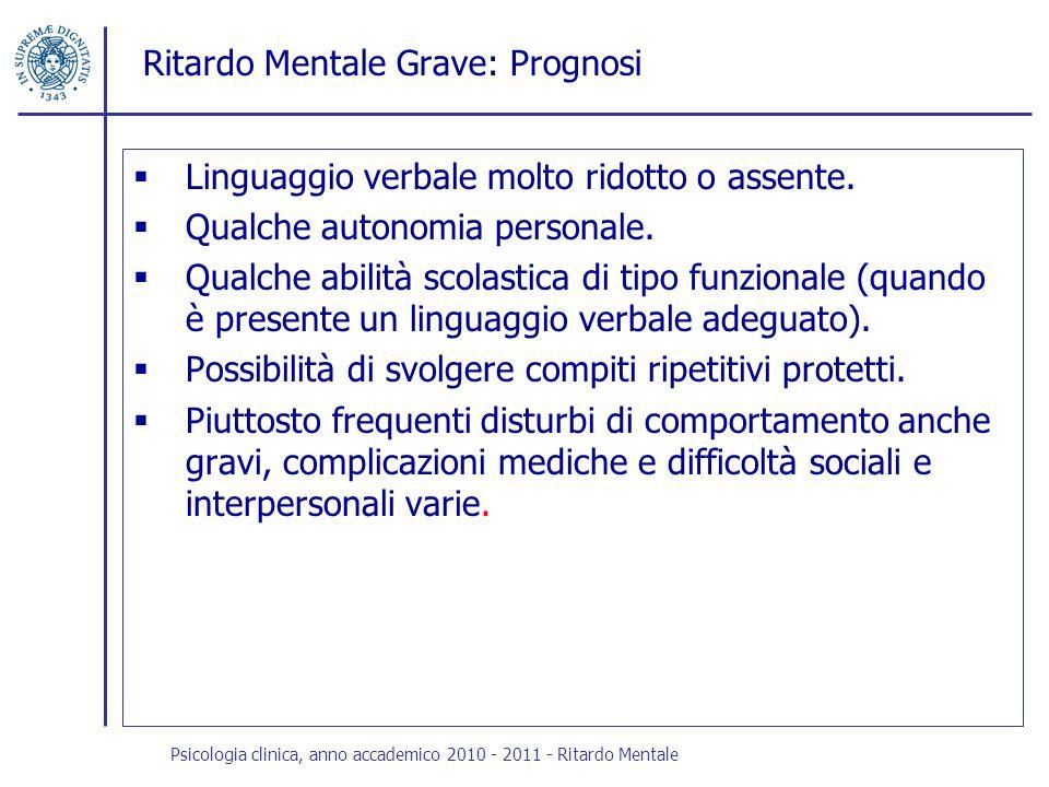 Ritardo Mentale Grave: Prognosi