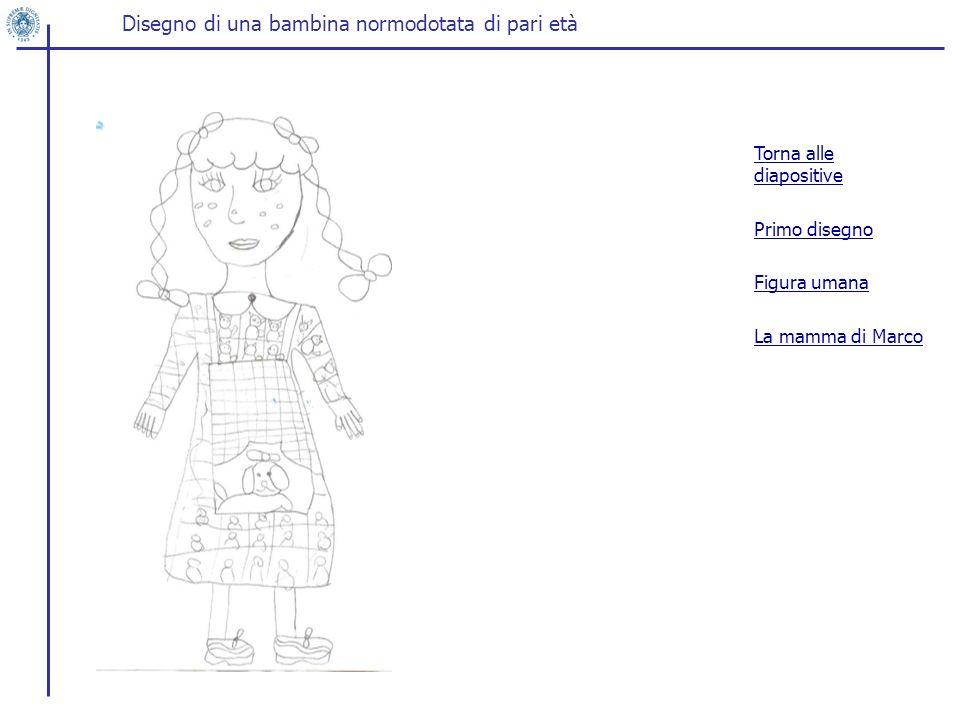 Disegno di una bambina normodotata di pari età