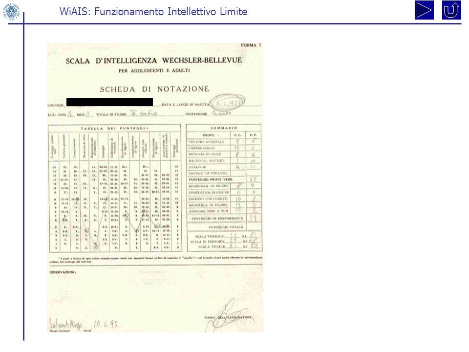 WiAIS: Funzionamento Intellettivo Limite