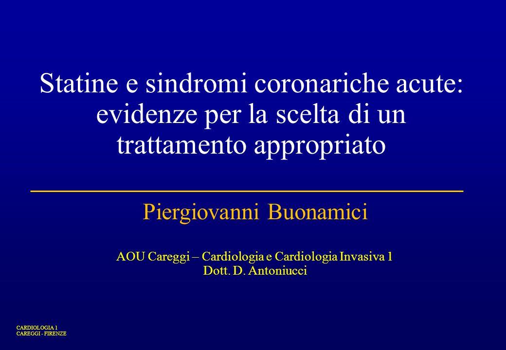 Statine e sindromi coronariche acute: