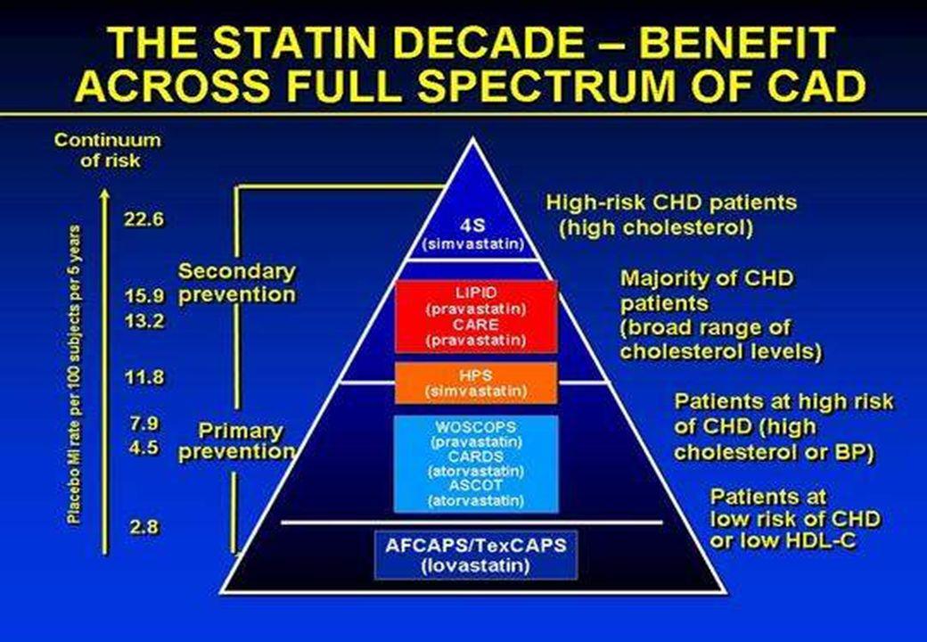 Sono passati dieci anni dalla pubblicazione dello studio 4S e di strada le statine ne hanno fatta dimostrando indubbi vantaggi in un'ampia gamma di situazioni cliniche sia in ambito di prevenzione primaria che secondariia