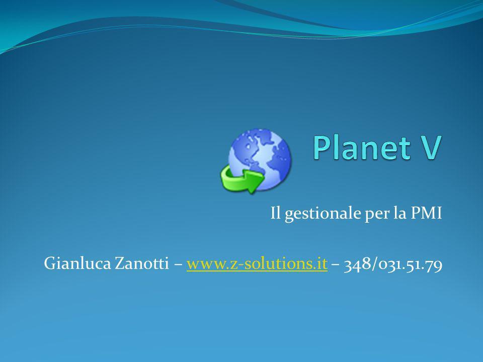 Planet V Il gestionale per la PMI