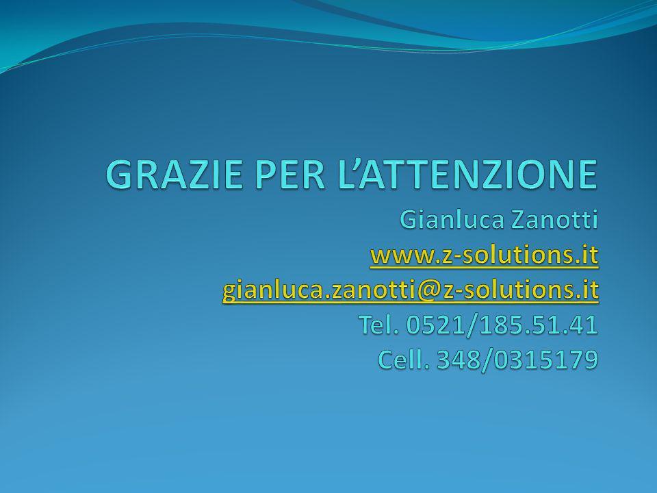 GRAZIE PER L'ATTENZIONE Gianluca Zanotti www. z-solutions. it gianluca
