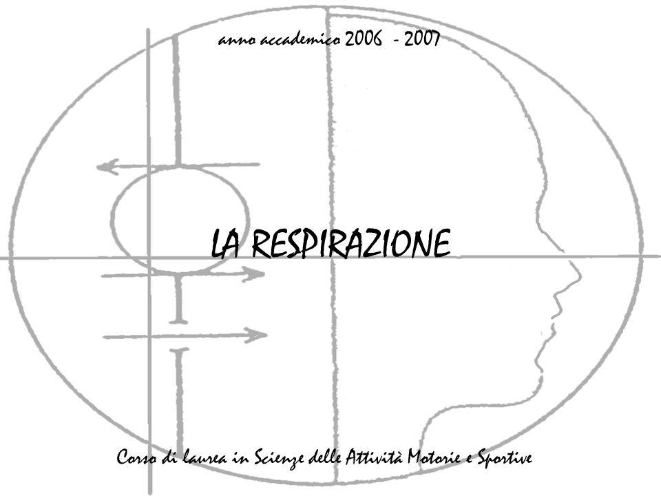 LA RESPIRAZIONE anno accademico 2006 - 2007