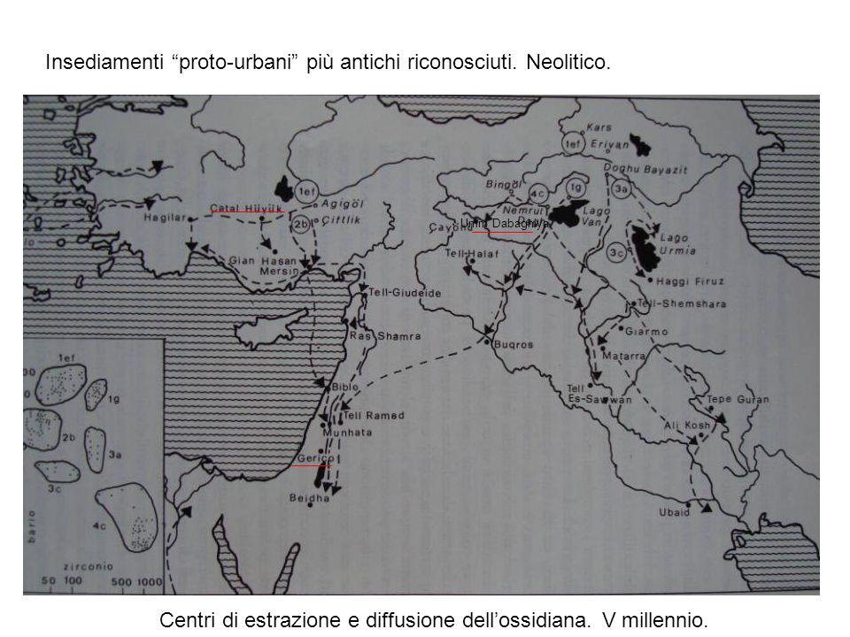 Insediamenti proto-urbani più antichi riconosciuti. Neolitico.