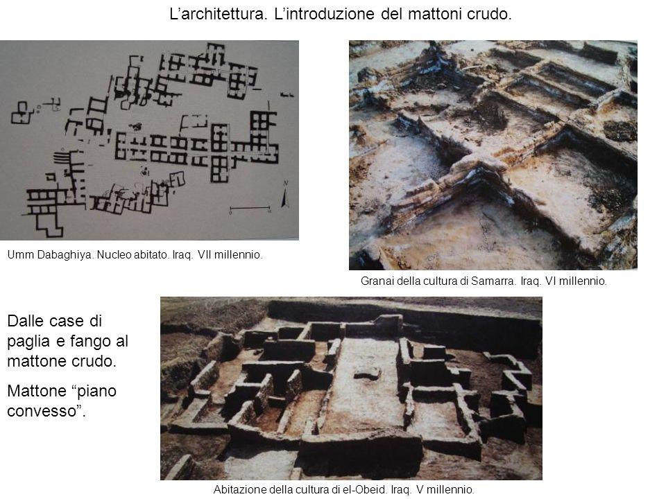 L'architettura. L'introduzione del mattoni crudo.
