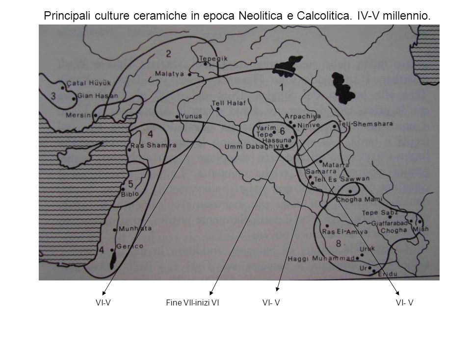 Principali culture ceramiche in epoca Neolitica e Calcolitica