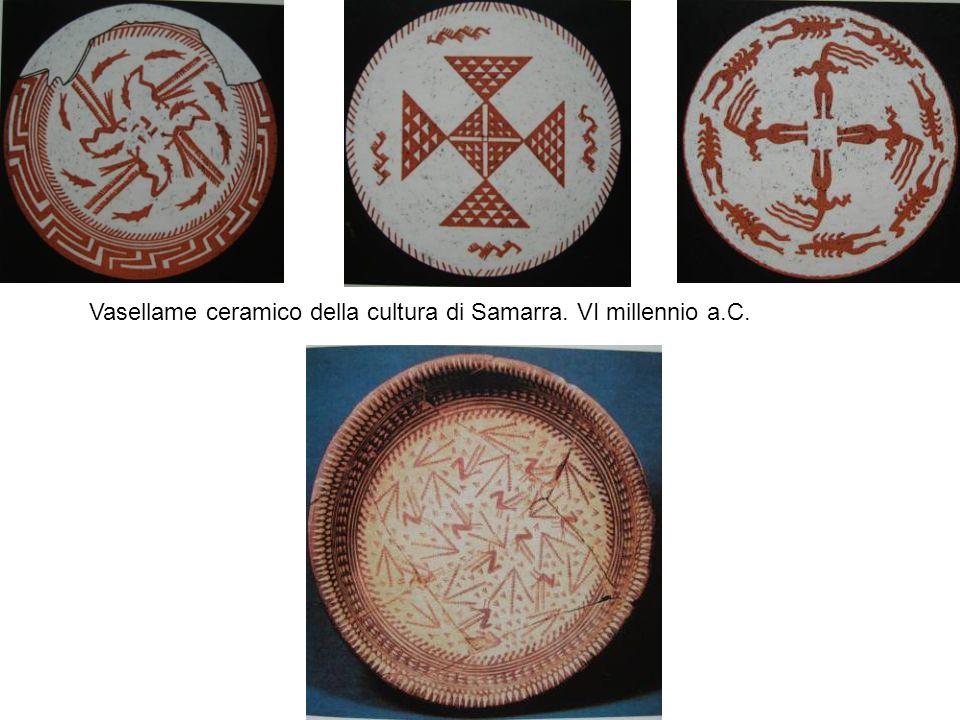 Vasellame ceramico della cultura di Samarra. VI millennio a.C.