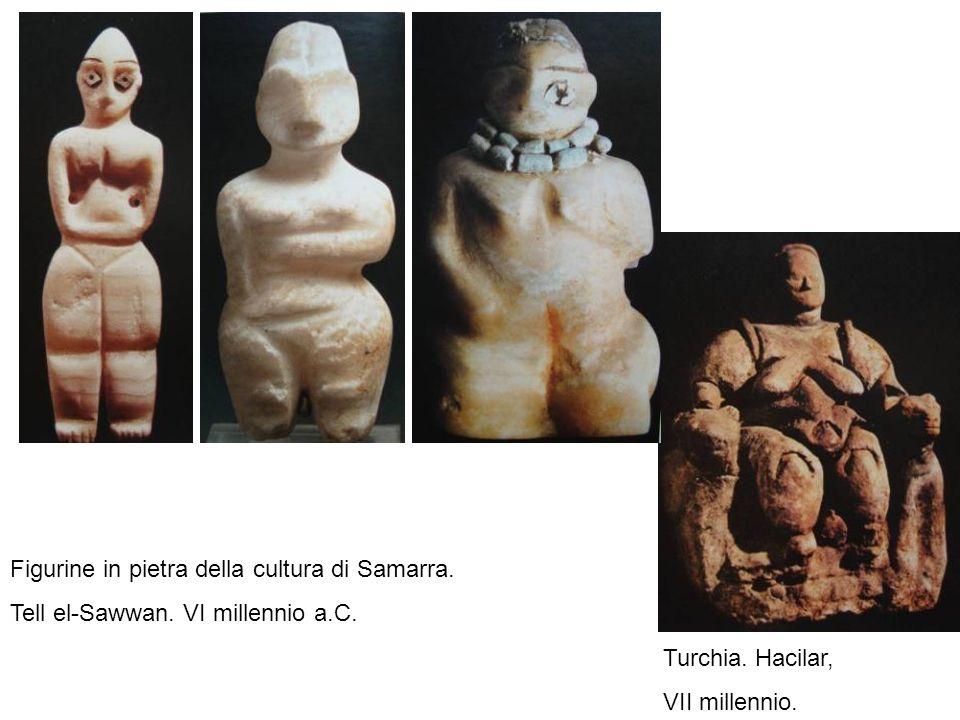Figurine in pietra della cultura di Samarra.