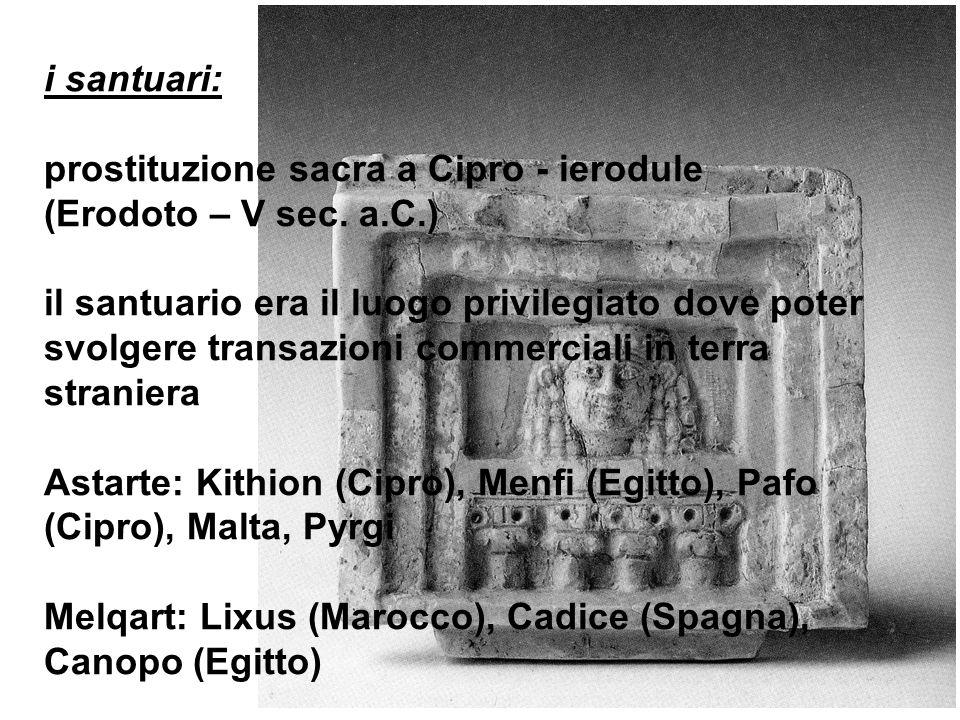 i santuari: prostituzione sacra a Cipro - ierodule. (Erodoto – V sec. a.C.)