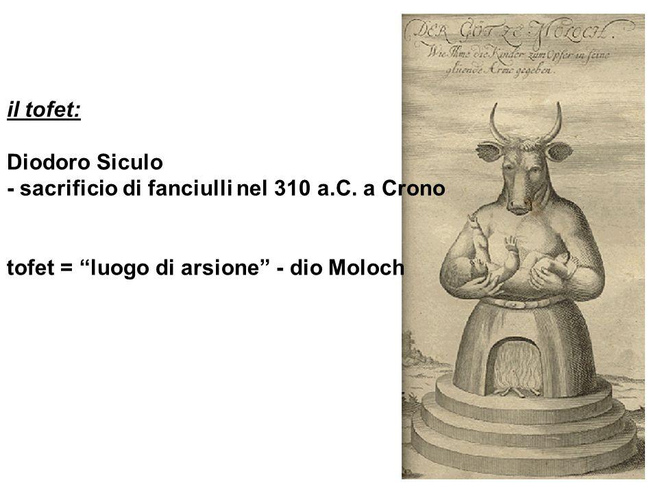 il tofet: Diodoro Siculo. - sacrificio di fanciulli nel 310 a.C.