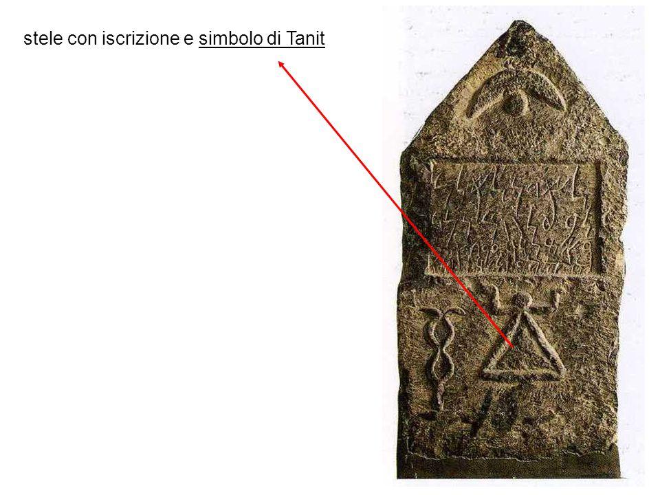 stele con iscrizione e simbolo di Tanit