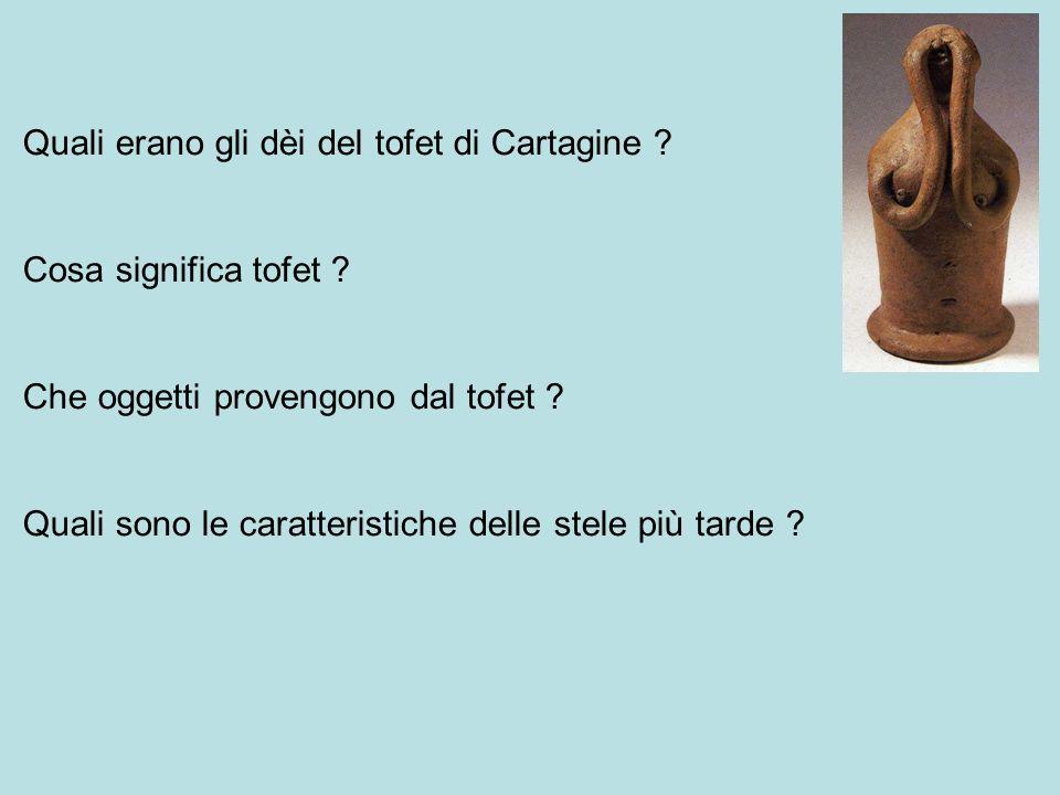 Quali erano gli dèi del tofet di Cartagine