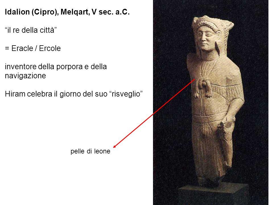 Idalion (Cipro), Melqart, V sec. a.C. il re della città