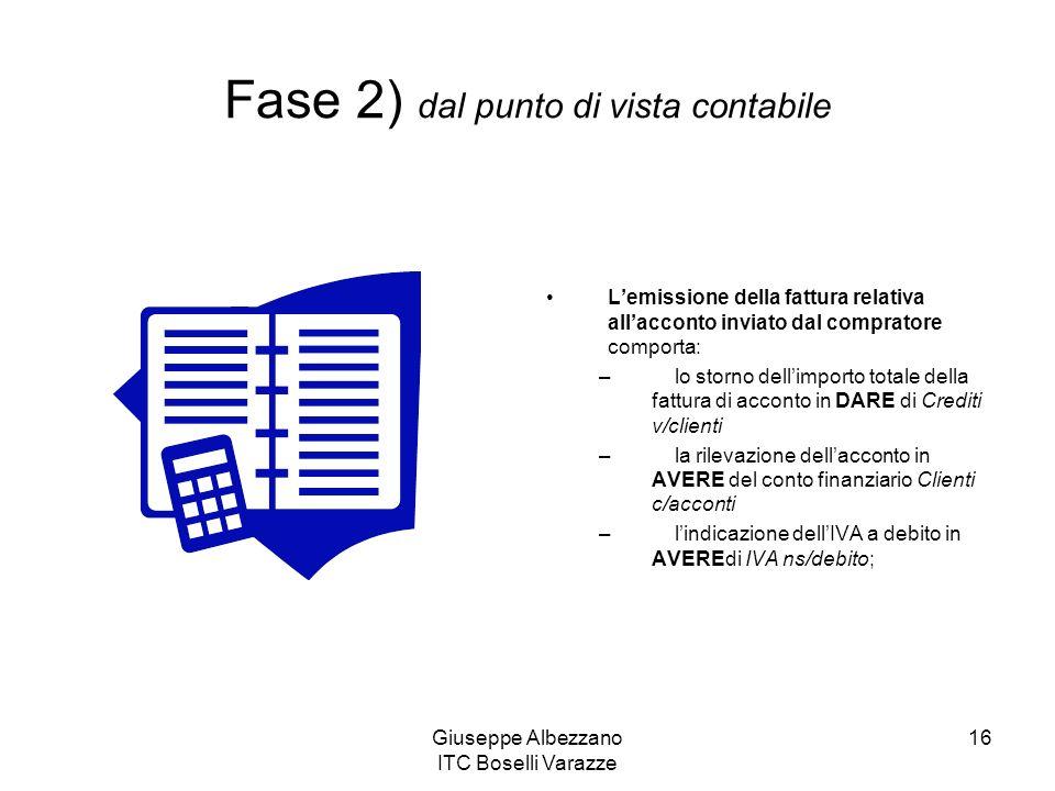 Fase 2) dal punto di vista contabile
