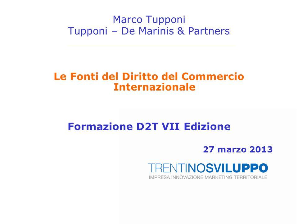 Marco Tupponi Tupponi – De Marinis & Partners