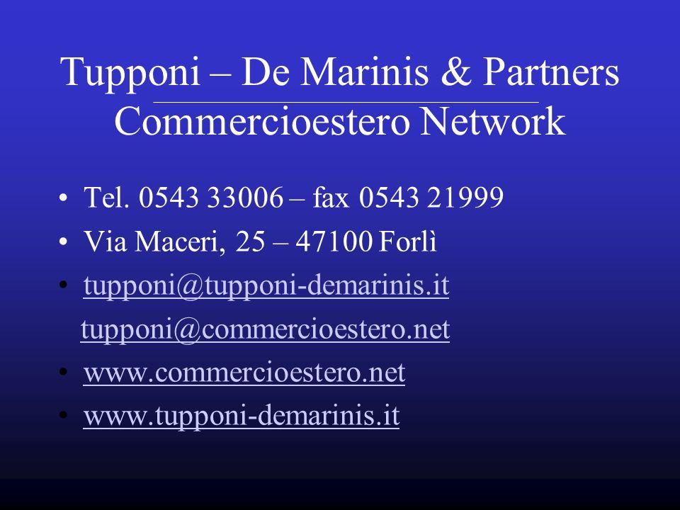 Tupponi – De Marinis & Partners Commercioestero Network