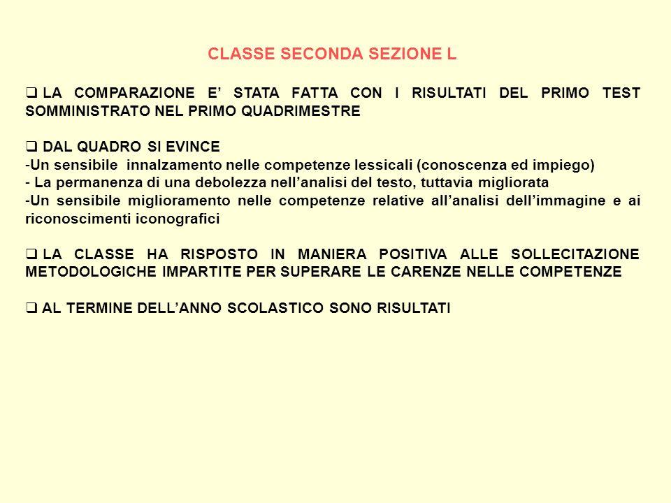 CLASSE SECONDA SEZIONE L