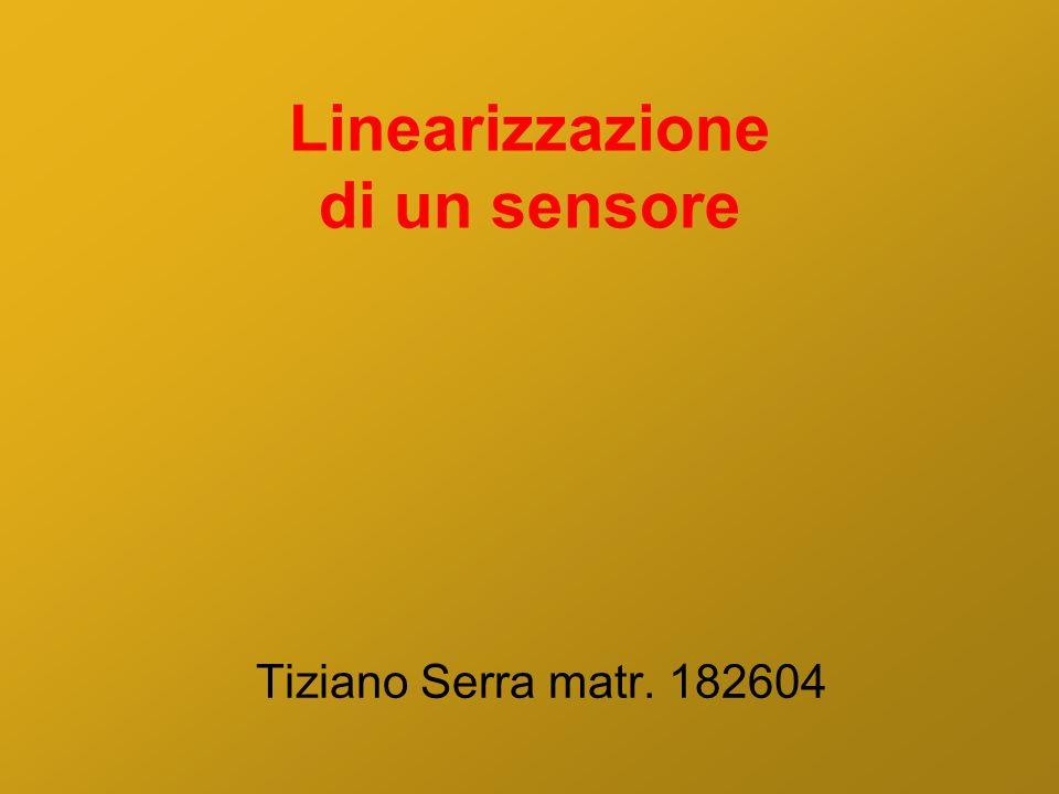 Linearizzazione di un sensore