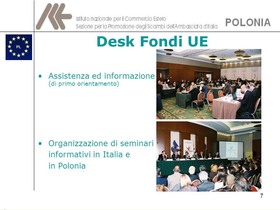 Desk Fondi UE Assistenza ed informazione (di primo orientamento)