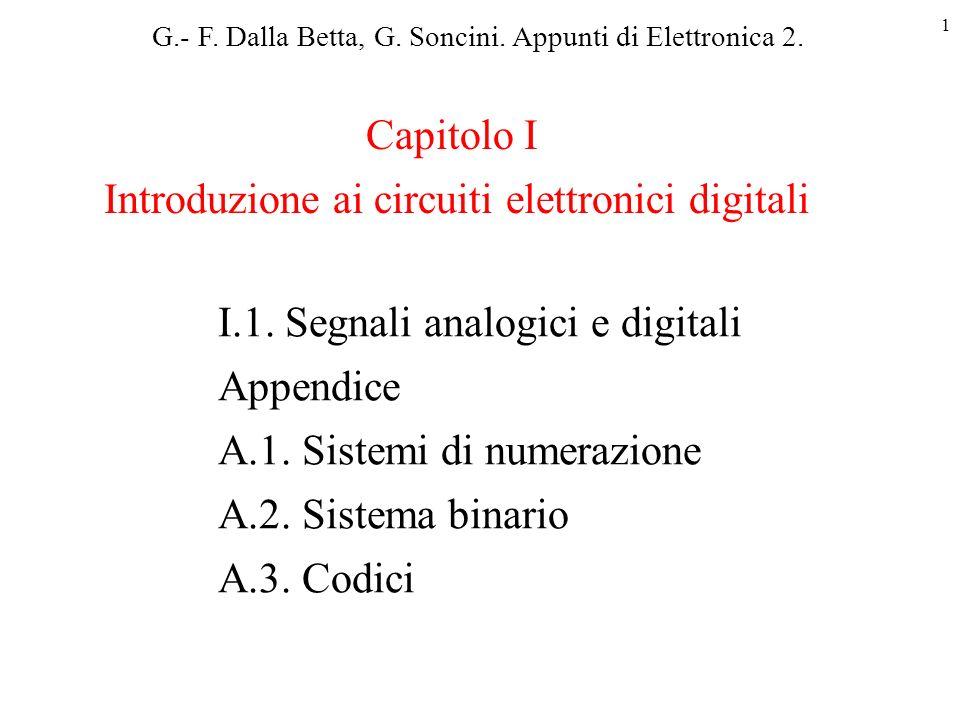 Introduzione ai circuiti elettronici digitali