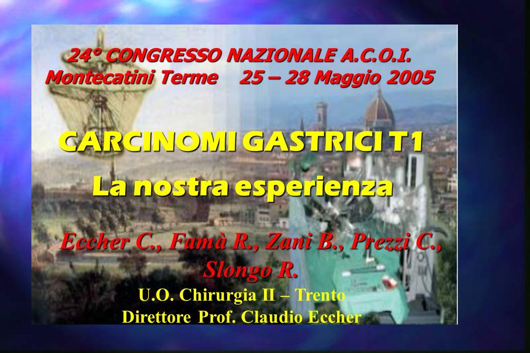 24° CONGRESSO NAZIONALE A.C.O.I. Montecatini Terme 25 – 28 Maggio 2005