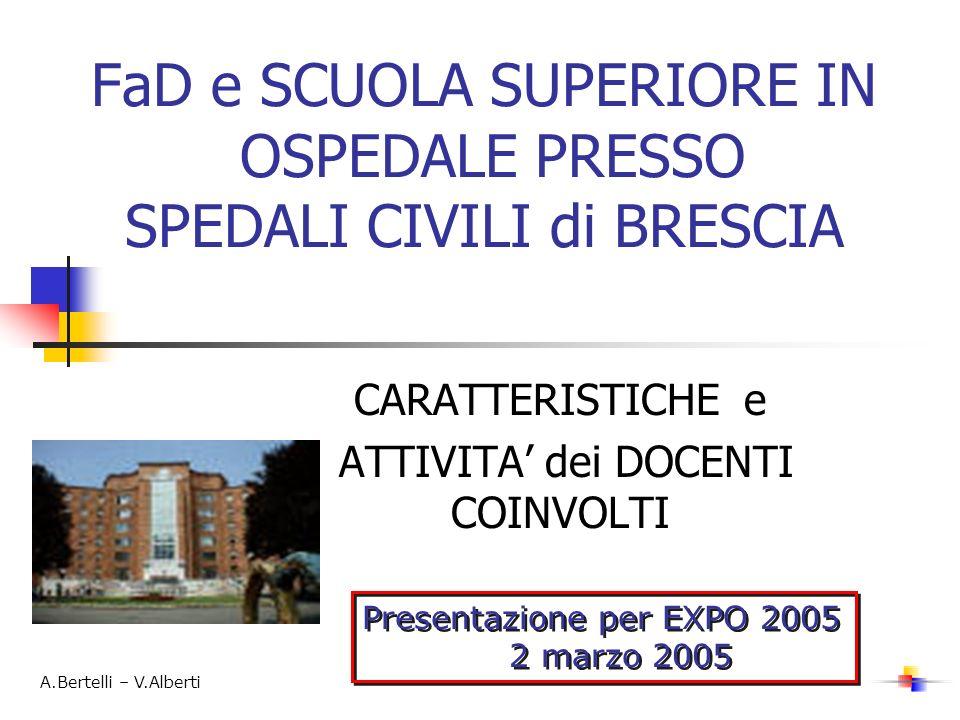 FaD e SCUOLA SUPERIORE IN OSPEDALE PRESSO SPEDALI CIVILI di BRESCIA
