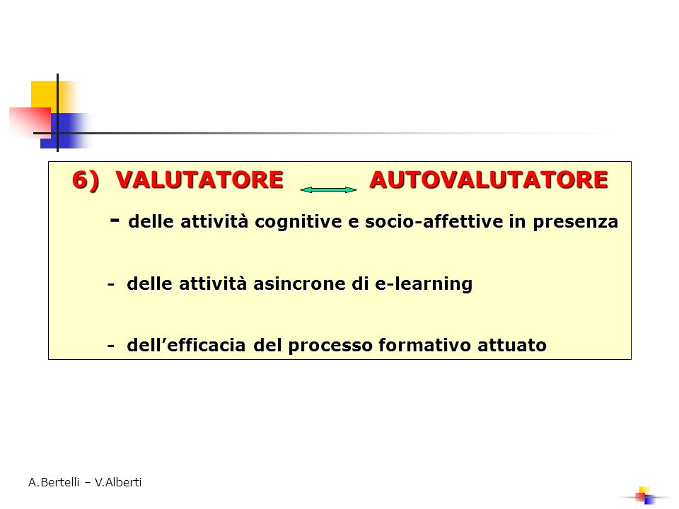 6) VALUTATORE AUTOVALUTATORE