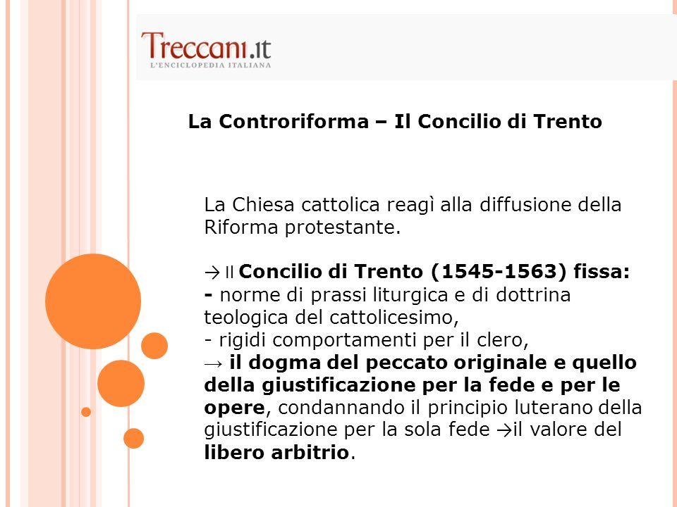 La Controriforma – Il Concilio di Trento