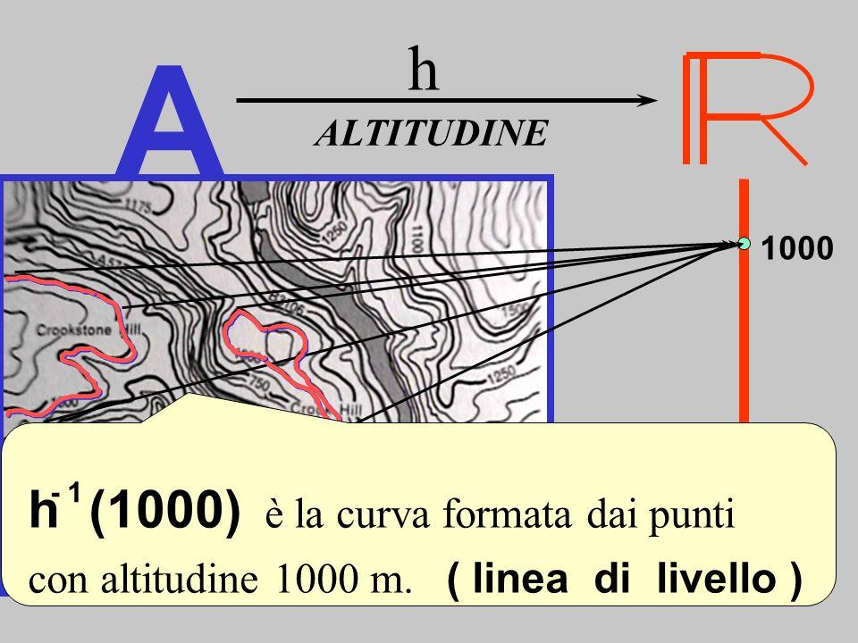 A h Linee di livello h (1000) è la curva formata dai punti