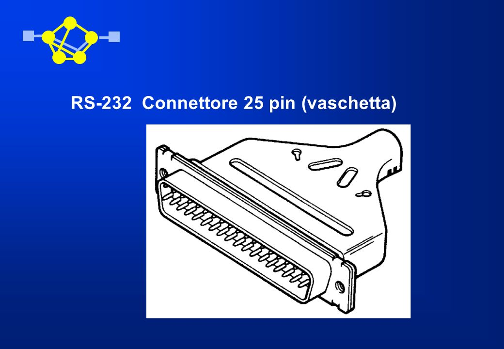 RS-232 Connettore 25 pin (vaschetta)