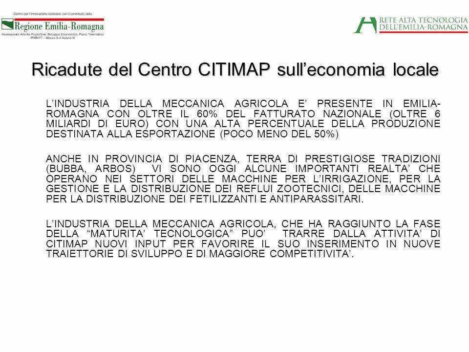 Ricadute del Centro CITIMAP sull'economia locale