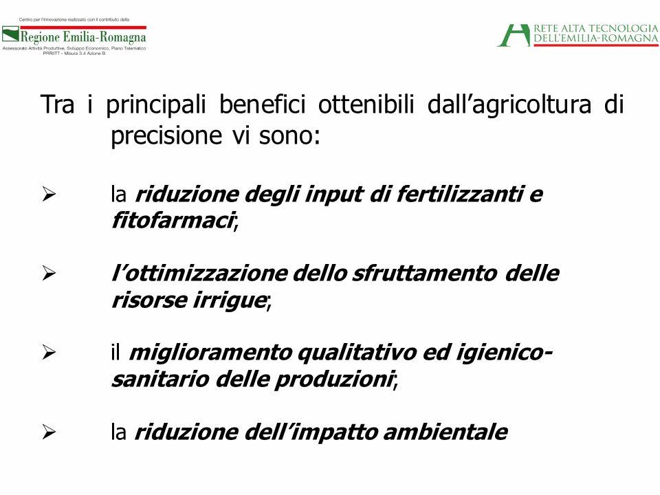 Tra i principali benefici ottenibili dall'agricoltura di precisione vi sono:
