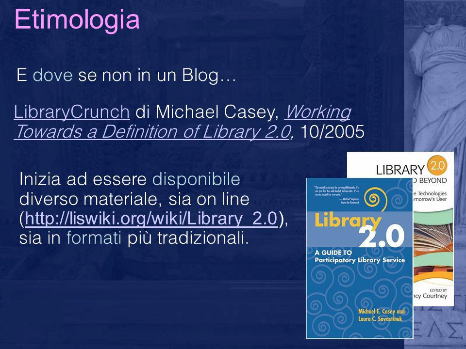 Etimologia E dove se non in un Blog…