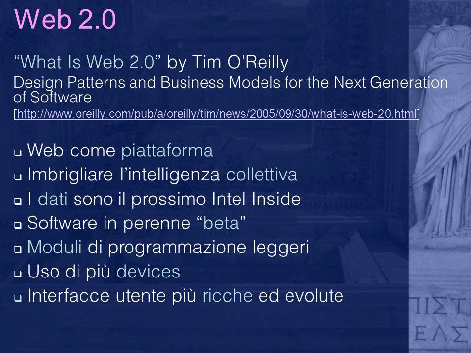 Web 2.0 What Is Web 2.0 by Tim O Reilly Web come piattaforma