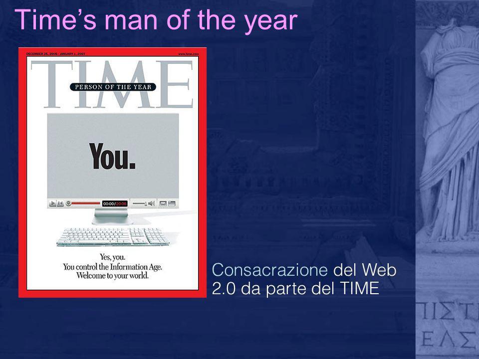 Time's man of the year Consacrazione del Web 2.0 da parte del TIME