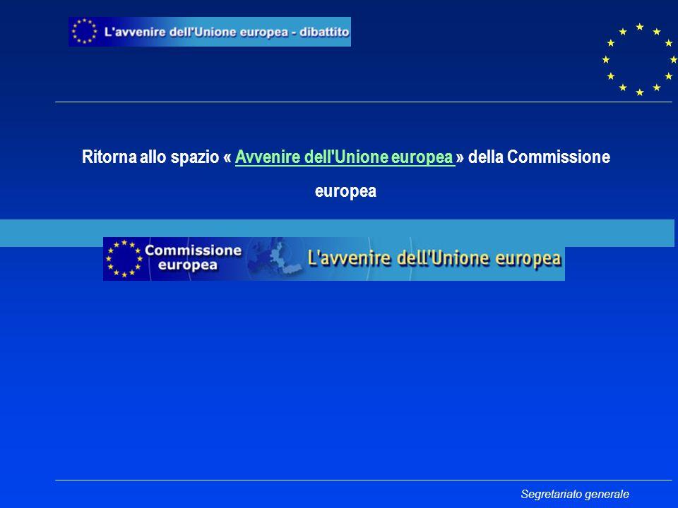 Ritorna allo spazio « Avvenire dell Unione europea » della Commissione