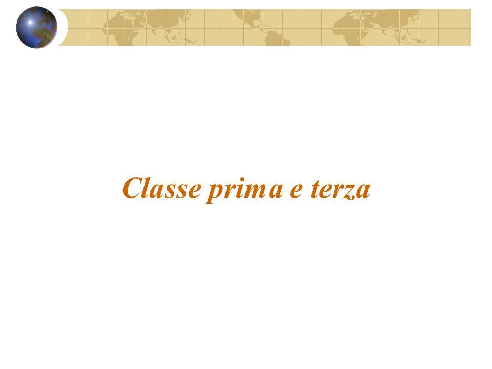 Classe prima e terza