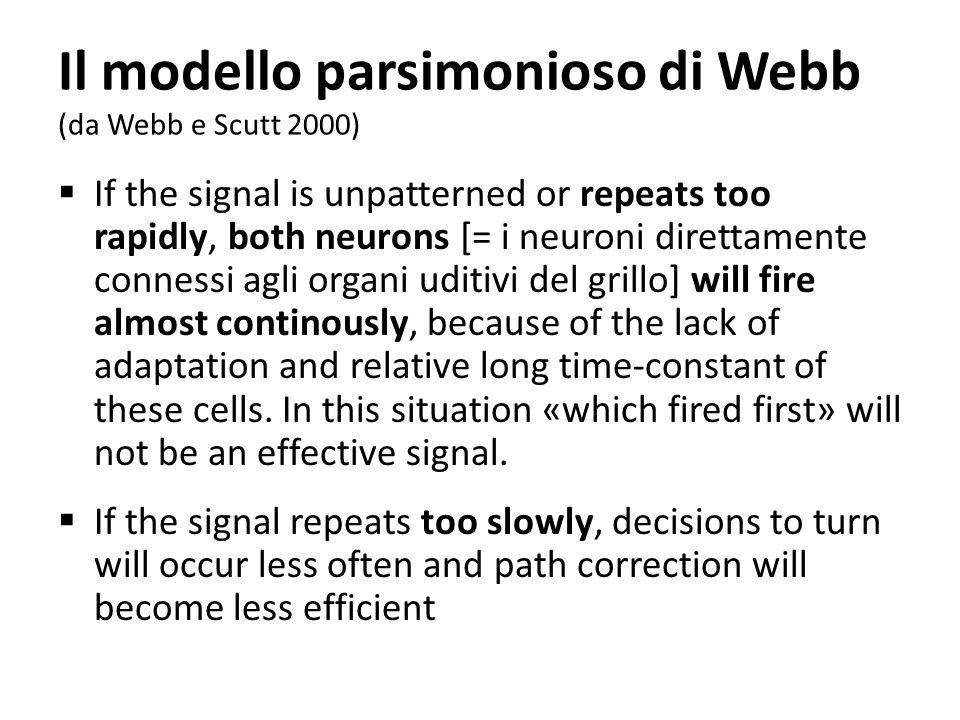 Il modello parsimonioso di Webb (da Webb e Scutt 2000)