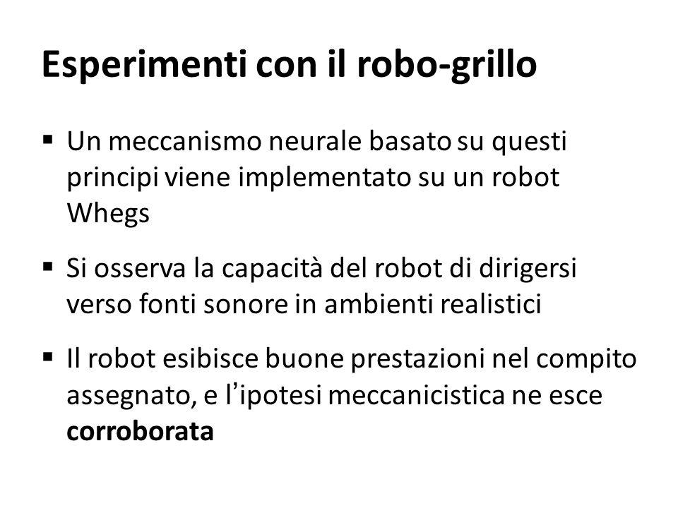 Esperimenti con il robo-grillo