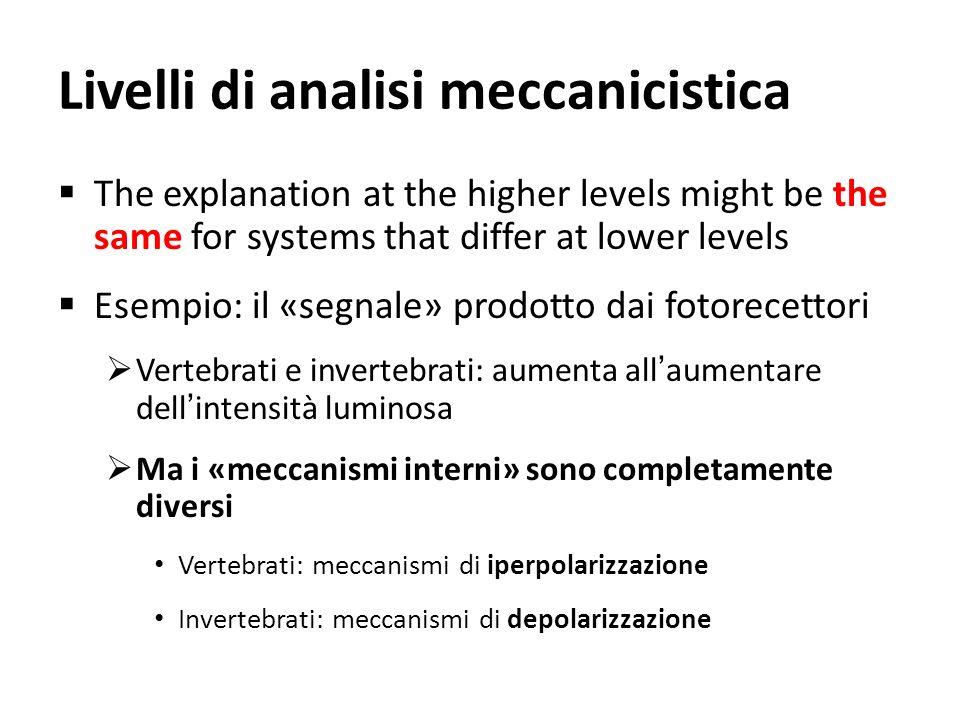 Livelli di analisi meccanicistica