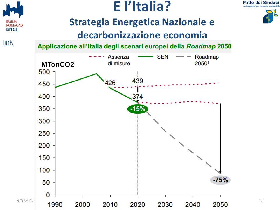 E l'Italia Strategia Energetica Nazionale e decarbonizzazione economia