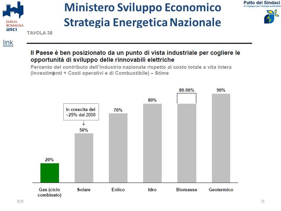 Ministero Sviluppo Economico Strategia Energetica Nazionale
